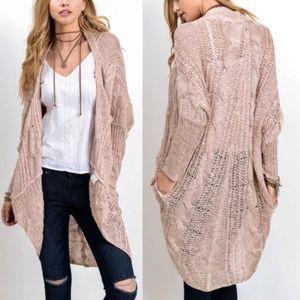 AMANDA Uber soft knit cardigan - PINK